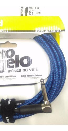 cabo para violão têxtil p10 blindado sto angelo 4,57m c/nfe