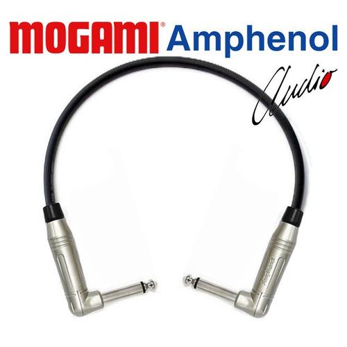 cabo patch cord para pedal p10 90º 15cm amphenol mogami 5 un