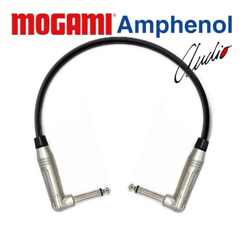 cabo patch cord para pedal p10 90º 30cm amphenol mogami