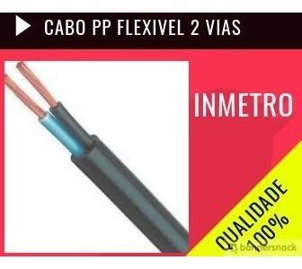 cabo pp flexivel duplo 4mm com 30 metros
