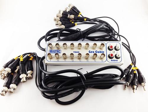 cabo protetor extensor e organizador para dvr 16 ch  4 audio