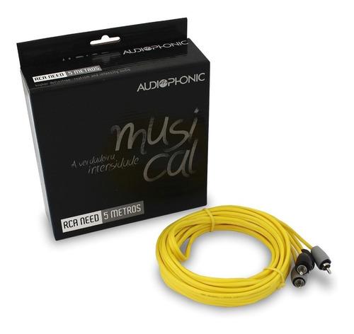 cabo rca audiophonic serie need 5 metros qualidade original