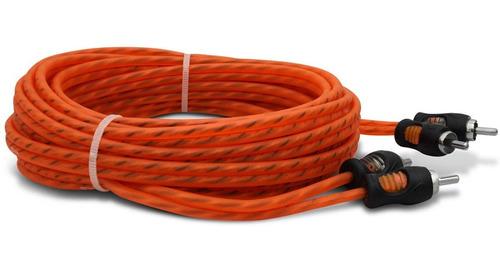 cabo rca kx3 coaxial 4mm 5 metros laranja dupla blindagem