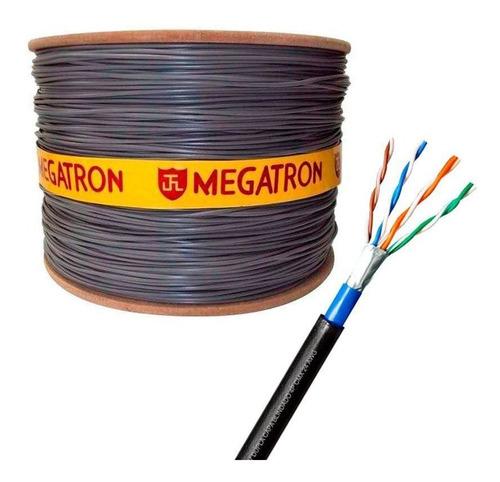 cabo rede blindado cat5e externo 1000 mts megatron anatel