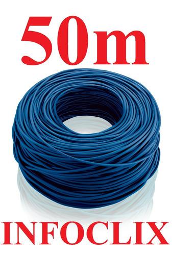 cabo rede cat5e azul rolo 50m cat5-e cat-5e metros caixa