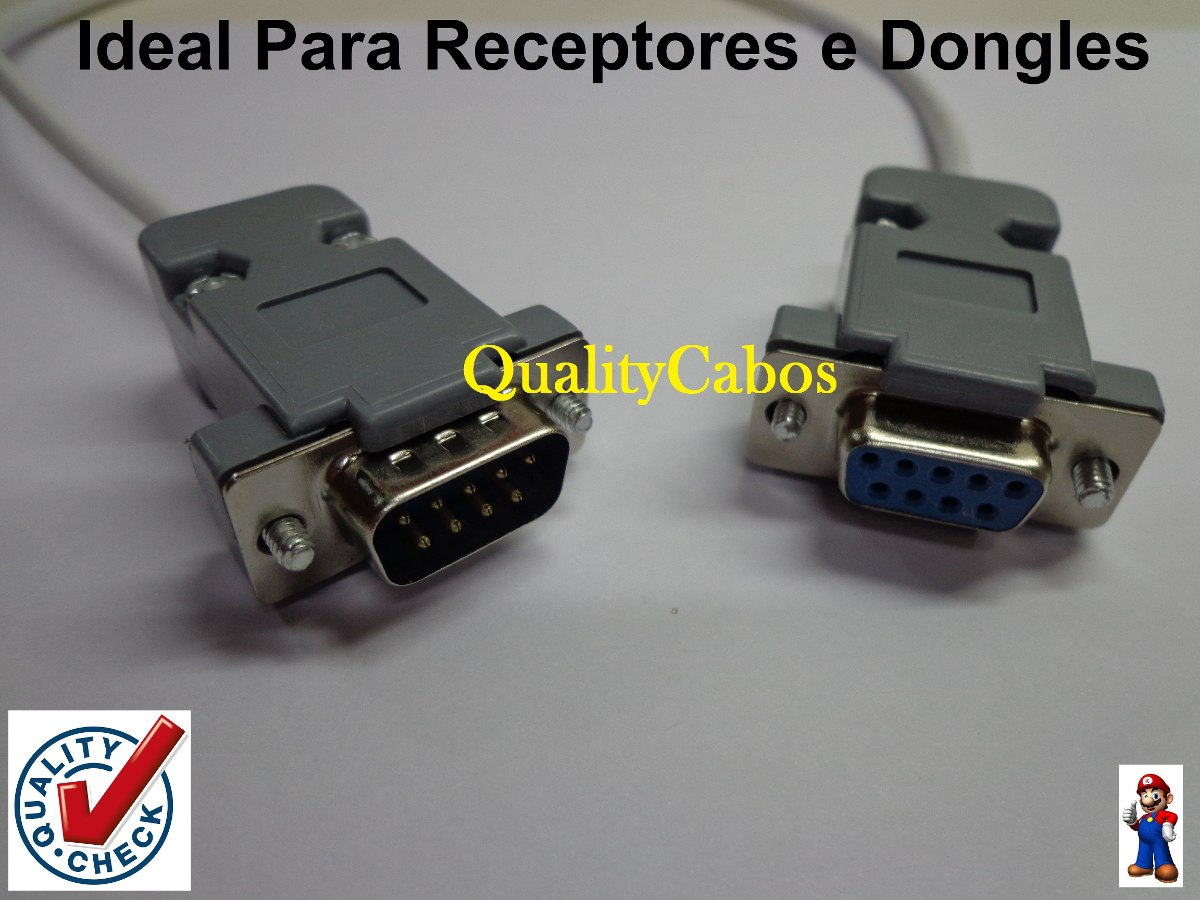 Cabo Rs232 Recovery Db9 Macho X Fêmea P /receptores /dongles - R$ 9 ...
