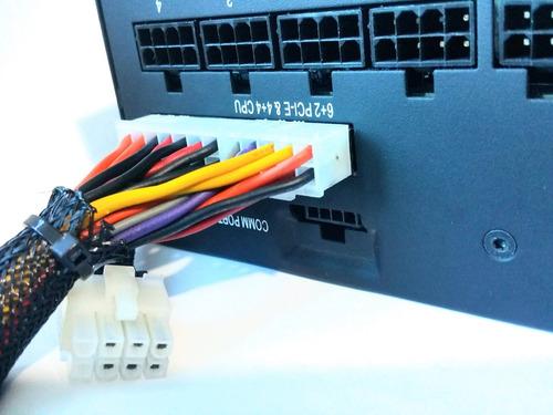 cabo sata fonte modular corsair type e type 4 conector branc