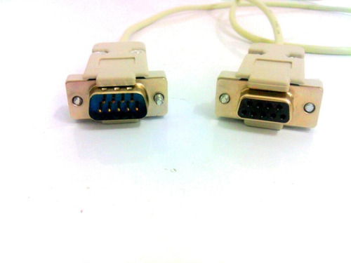 cabo serial rs232 db9 null-modem femea x macho com 1 metro
