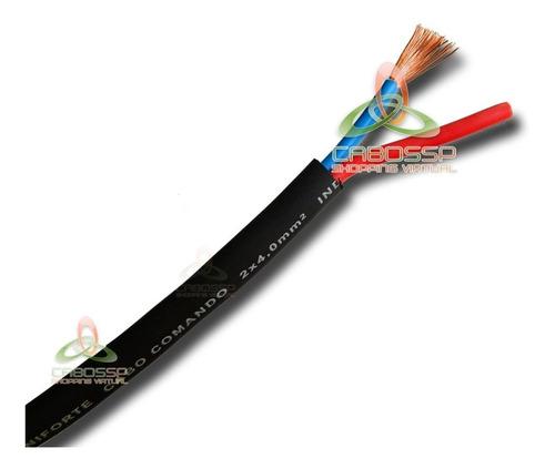 cabo speaker pp de comando extra-flexivel p/ caixas 2x4,00mm