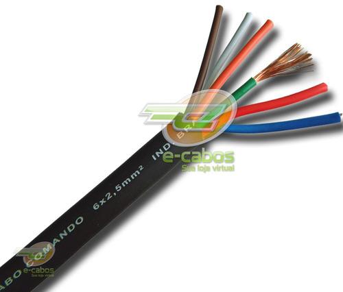 cabo speaker pp de comando extra-flexivel p/ caixas 6x2,50mm