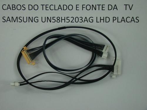 cabo teclado e fonte tv samsung un58h5203ag