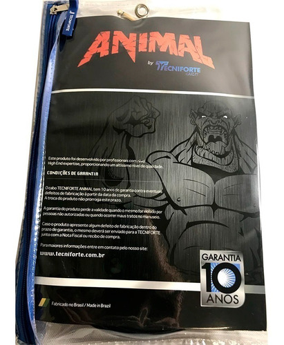 cabo tecniforte animal 6,01m  p10 x p10 ouro an20au
