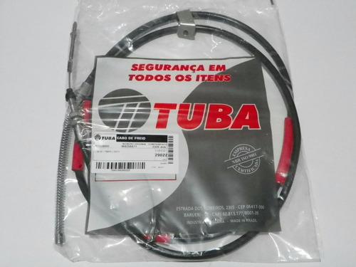 cabo traseiro freio mão l200 gls até 07 quadrada - ld