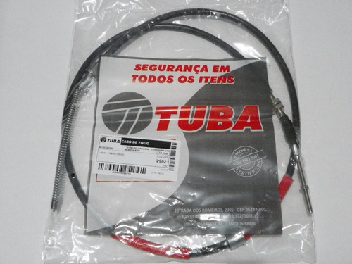 cabo traseiro freio mão l200 gls até 07 quadrada par dir/esq