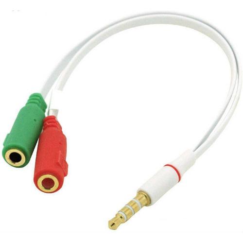 cabo unificador de fone microfone p2 macho x 2 p2 barato 50%