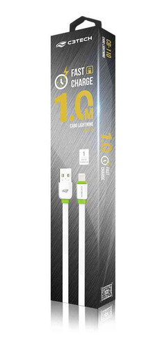 cabo usb lightning 2,0 a 1m cb-110 c3tech fast charge
