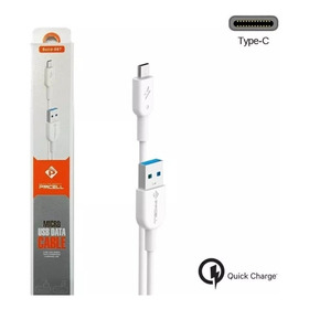Cabo Usb Tipo C Pmcell 1 Metro 3.0 Cinza Solid-999