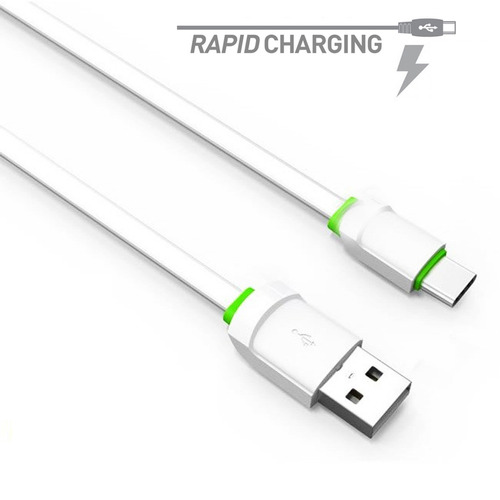 cabo usb type c tipo c carrega rápido 2.4a fast charge