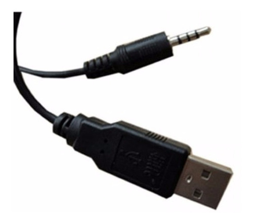 cabo usb x p2 3 aneis para mp3/mp4/mp5 player preto