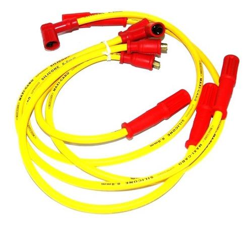 cabo vela silicone amarelo 8mm gol voyage quadrado ap 1.8