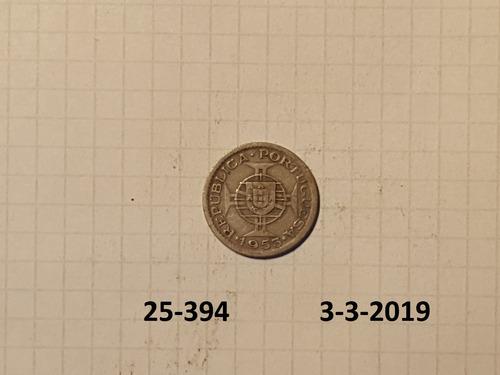 cabo verde colonia portuguesa 2 1/2 escudos 1953
