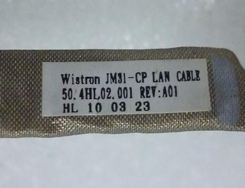 cabo wistron jm31-cp lan cable pn: 50.4hl02.001 rev:a01