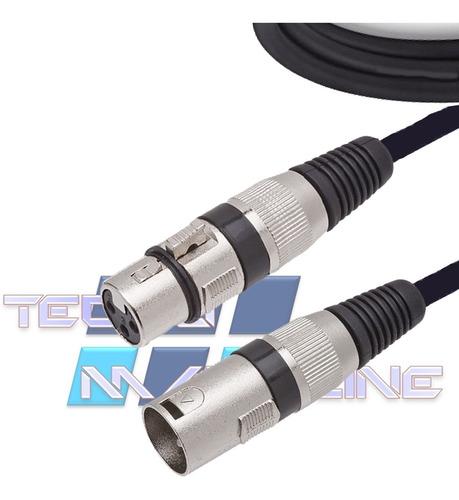 cabo xlr canon 1mt balanceado mesa amplificador dmx 3 vias