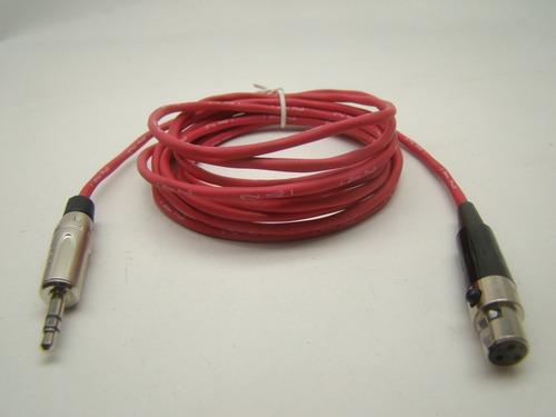 cabo  xlr mini 3 pinos fêmea x p2 estéreo  amphenol 15 cm vm