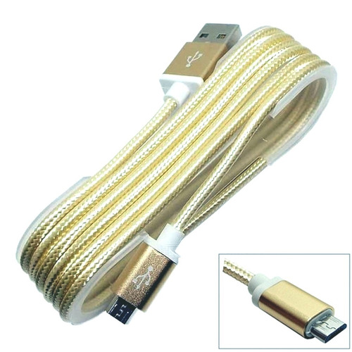 cabos carga micro usb v8 android reforçado nylon 20 unidades