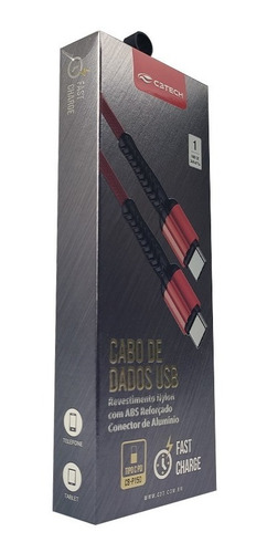 cabos de dados usb tipo c cb-p150rd fast charge - c3 tech