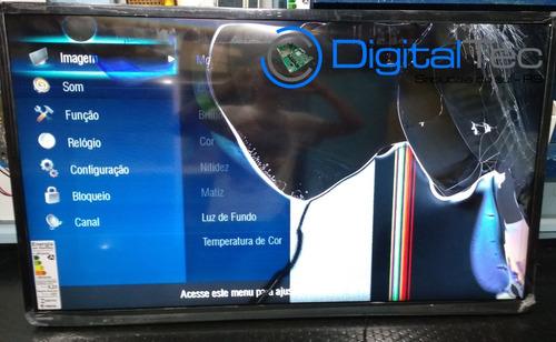 cabos flat t-com tv semp toshiba 48l2400 v2 48l2400 (par)