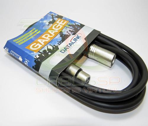 cabos microfone/dmx - xlr/canon balanceado 5 metros