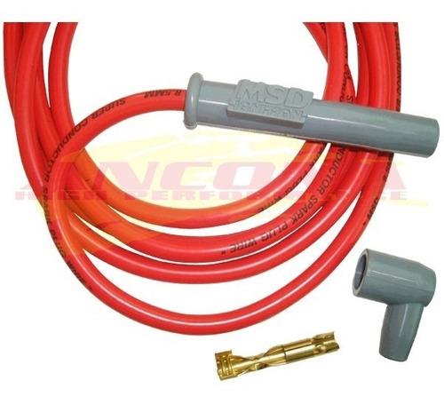 cabos vela msd 8.5mm vermelho vw ap 1.6 1.8 2.0