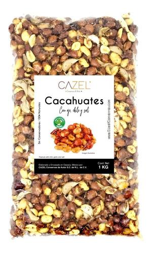 cacahuate con ajo y chile de árbol oaxaca 1kg