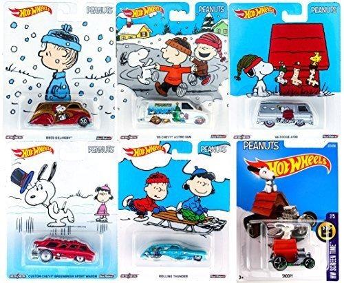 cacahuetes hot wheels snoopy charlie brown christmas set