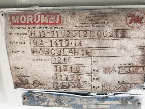 caçamba morumbi - basculante 12m³ 2011 = rossatti,pastre