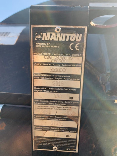caçamba para manipulador,manitou, modelo cbg 2450, sem uso