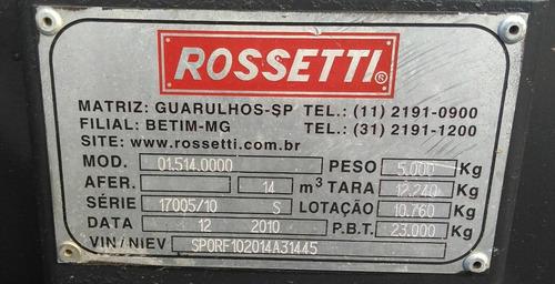 caçamba rossetti  ano 2010 para 14 m3