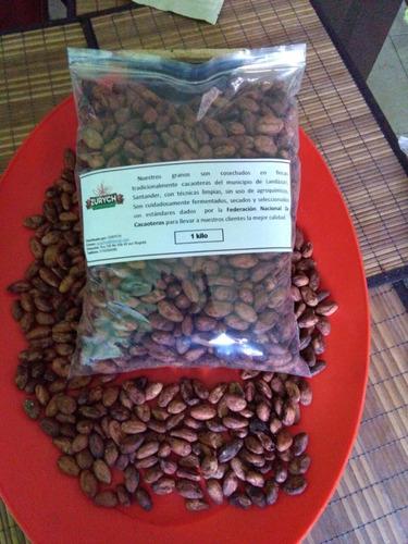 cacao en grano tostado 100% puro