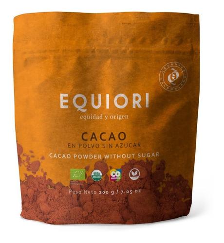 cacao en polvo 100% organico doy pack 200 - g a $85