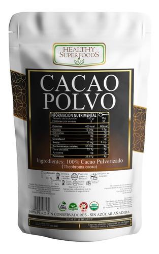 cacao en polvo 500g orgánico certificado envio incluido