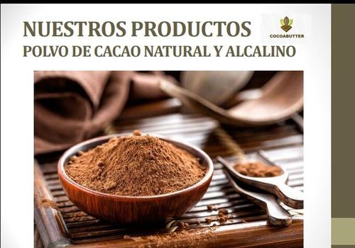 cacao en polvo natural y alcalino por kilo