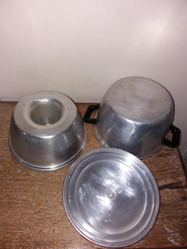 caçarola  banho maria em aluminio