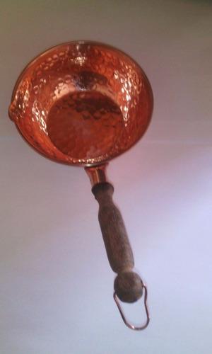 caçarola cabo madeira n°1 metal arte