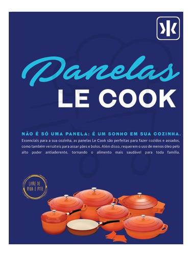 caçarola panela 7,2l cerâmica antiaderente 28cm le cook