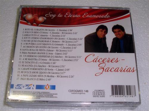 caceres zacarias lote de 3 cds sellados