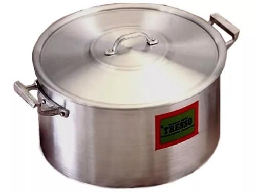 cacerola aluminio nº 30 gastronómica tresso cap. 10 litros