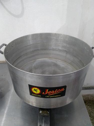 cacerola aluminio n° 50 gastronomica 50 lt con colador