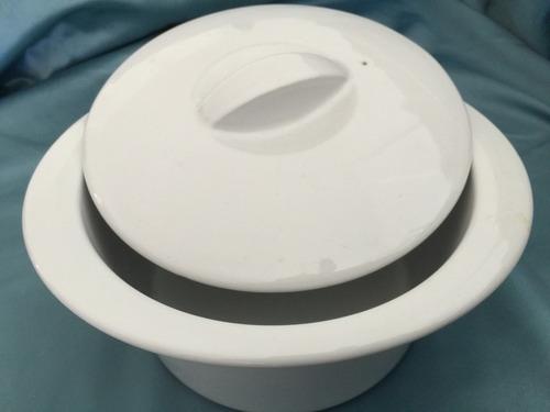 cacerola c/tapa ceramica refractaria p/horno fusion 25x11cms