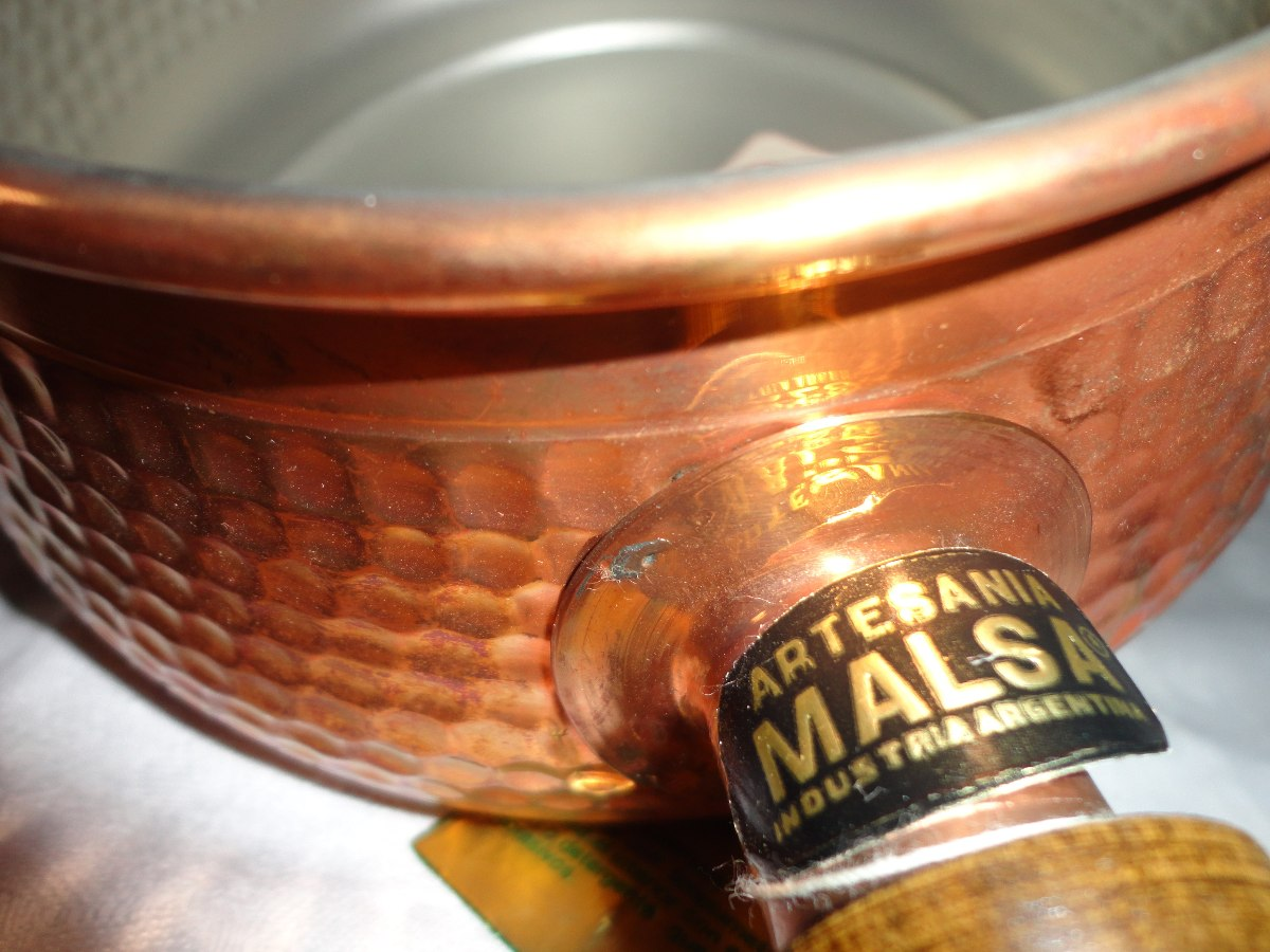 cacerola de cobre para fondue